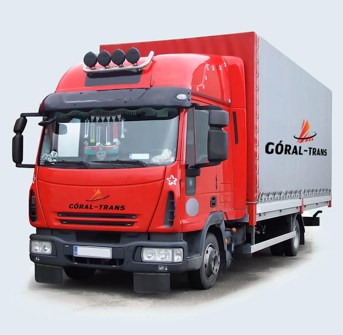 cieżarówka z logo
